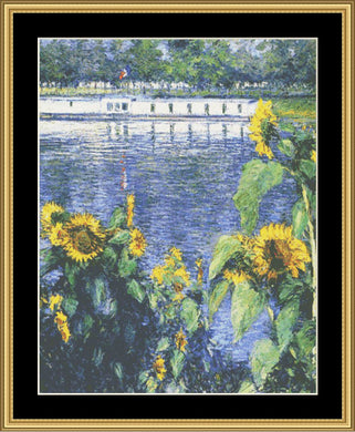 A Great Master-Sunflowers On The Bank Of Seine-Monet