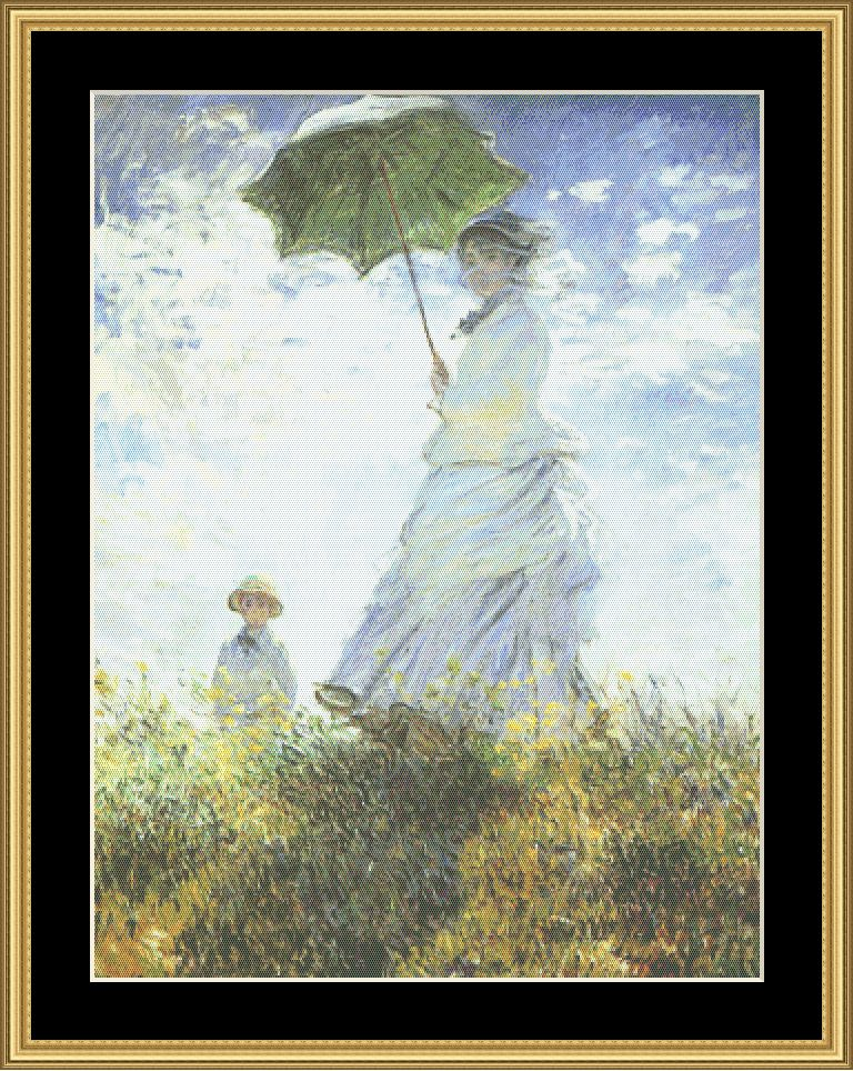 A Great Master-Woman With Parasol-Monet