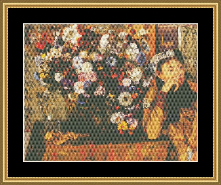 A Great Master-Woman Beside Vase Of Flowers-Monet