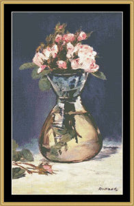 GREAT MASTERS COLLECTON Moss Rose In Vase  GM-50