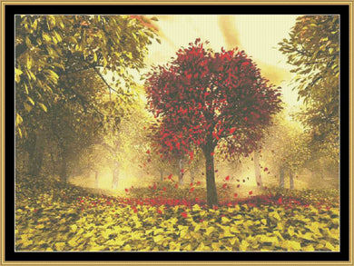 Falling Leaves   NFP-164 - Mystic Stitch Inc...