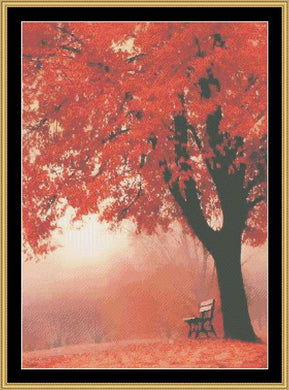 Autumn Bench   NFP-48 - Mystic Stitch Inc...