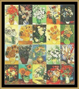 """A TRIBUTE SERIES""  VANGOGH FLOWERS  NFP-602"