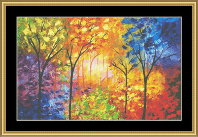 Blooming Trees   NFP-640 - Mystic Stitch Inc...