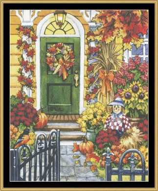 Decorated For Fall  NW-07 - Mystic Stitch Inc...