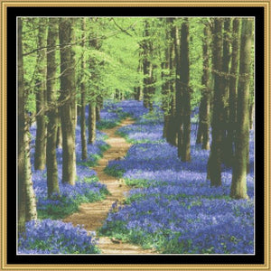 BLUE BELLS IN THE WOODS  RNFP-305 - Mystic Stitch Inc...