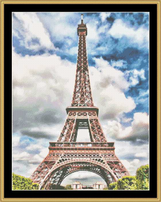 EIFFEL TOWER - VIBRANT  RNFP-325 - Mystic Stitch Inc...