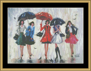 FIVE RAIN GIRLS  VW-43 - Mystic Stitch Inc...