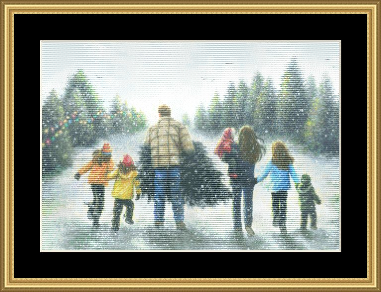 Family Christmas Tree  VW-051 - Mystic Stitch Inc...