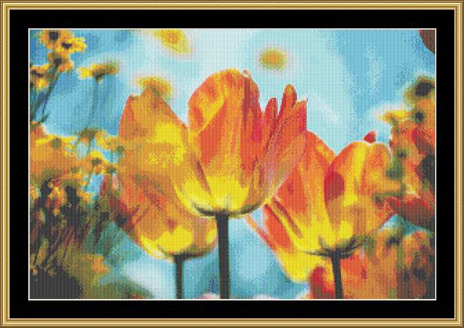 YELLOW TULIPS II   FLO-04