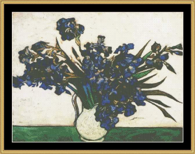THE GREAT MASTERS COLLECTION - Blue Irises - Van Gogh  GM-20