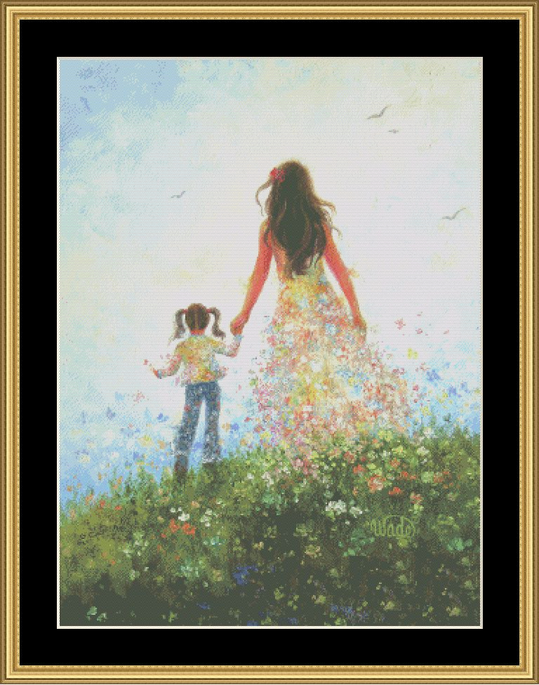 A Mother's Love Series: Walking In Flowers   VW-33 - Mystic Stitch Inc...