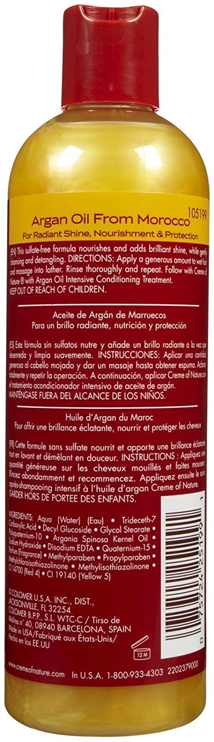 ARGAN OIL SHAMPOO 12 OZ | CREME OF NATURE