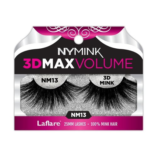 MINK 3D MAX 25MM EYELASHES | LA FLARE