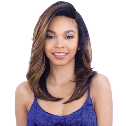 "MODELMODEL SYNTHETIC HAIR WIG 5"" DEEP LACE PART OVER BANG FANTASIA"