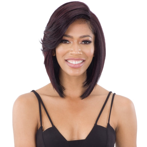 "FREETRESS EQUAL 5"" LACE PART WIG FLOWY BANG"