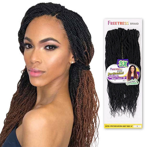 3X PRE-STRETCHED NATURAL WAVY TWIST 18"