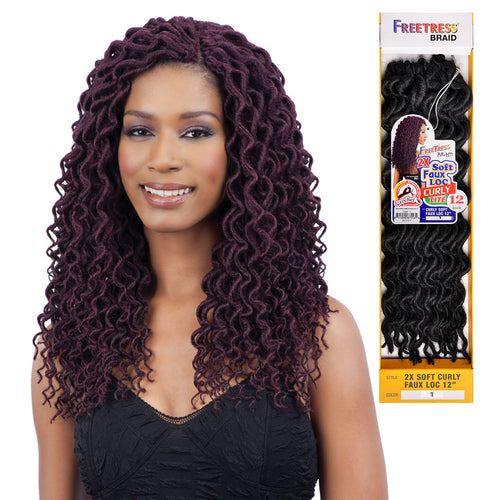 2X SOFT FAUX LOC CURLY 12"