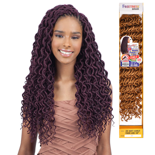 2X SOFT FAUX LOC CURLY 18"