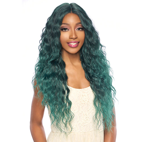 "HARLEM125 SYNTHETIC HAIR LACE FRONT WIG SWISS LACE 6"" DEEP PART LSD62"