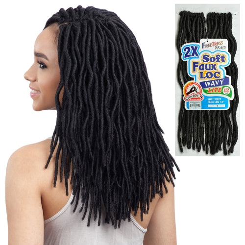 2X SOFT FAUX LOC WAVY 12"