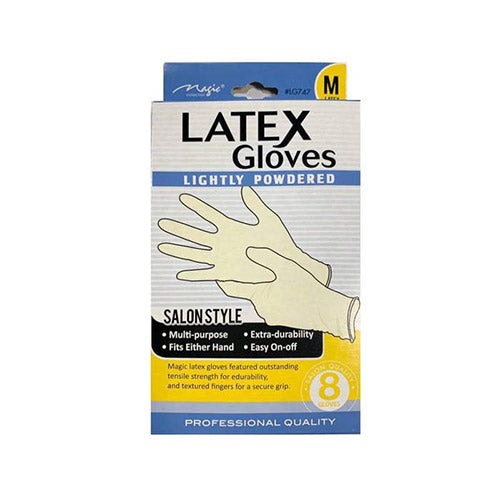 LATEX GLOVES LIGHTLY POWDERED 8PCS | MAGIC