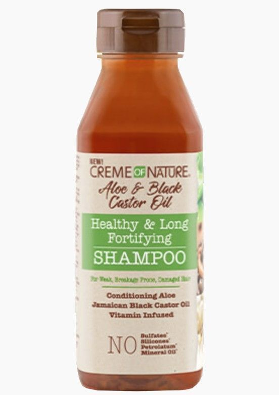 ALOE & BLACK CASTOR OIL SHAMPOO 12 OZ | CREME OF NATURE