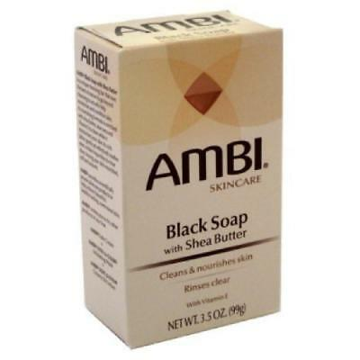 BLACK SOAP W/ SHEA BUTTER 3.5 OZ | AMBI