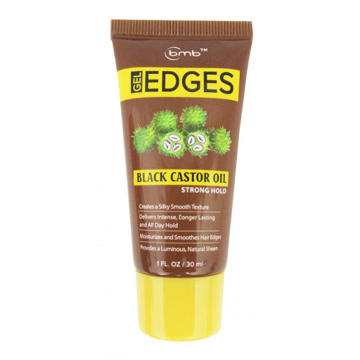 GEL EDGES BLACK CASTOR OIL 1 OZ | BMB