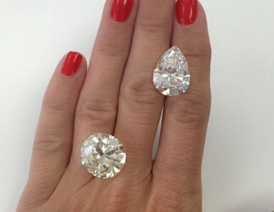 Round & Pear Cut Diamonds - The Jewels of Beverly Hills