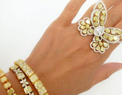 Butterfly Diamond Ring - The Jewels of Beverly Hills