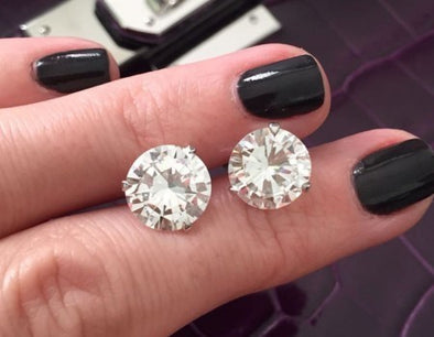 Round Cut Diamond Studs - The Jewels of Beverly Hills
