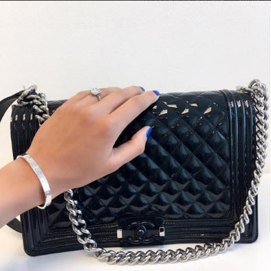 Chanel Medium Boy Bag Navy Blue - The Jewels of Beverly Hills