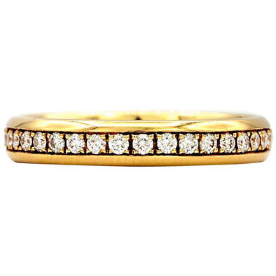 Chopard Eternity Wedding Band 18 Karat Yellow Gold Ring with Diamonds