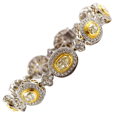 Natural Canary Yellow Diamonds Bracelet