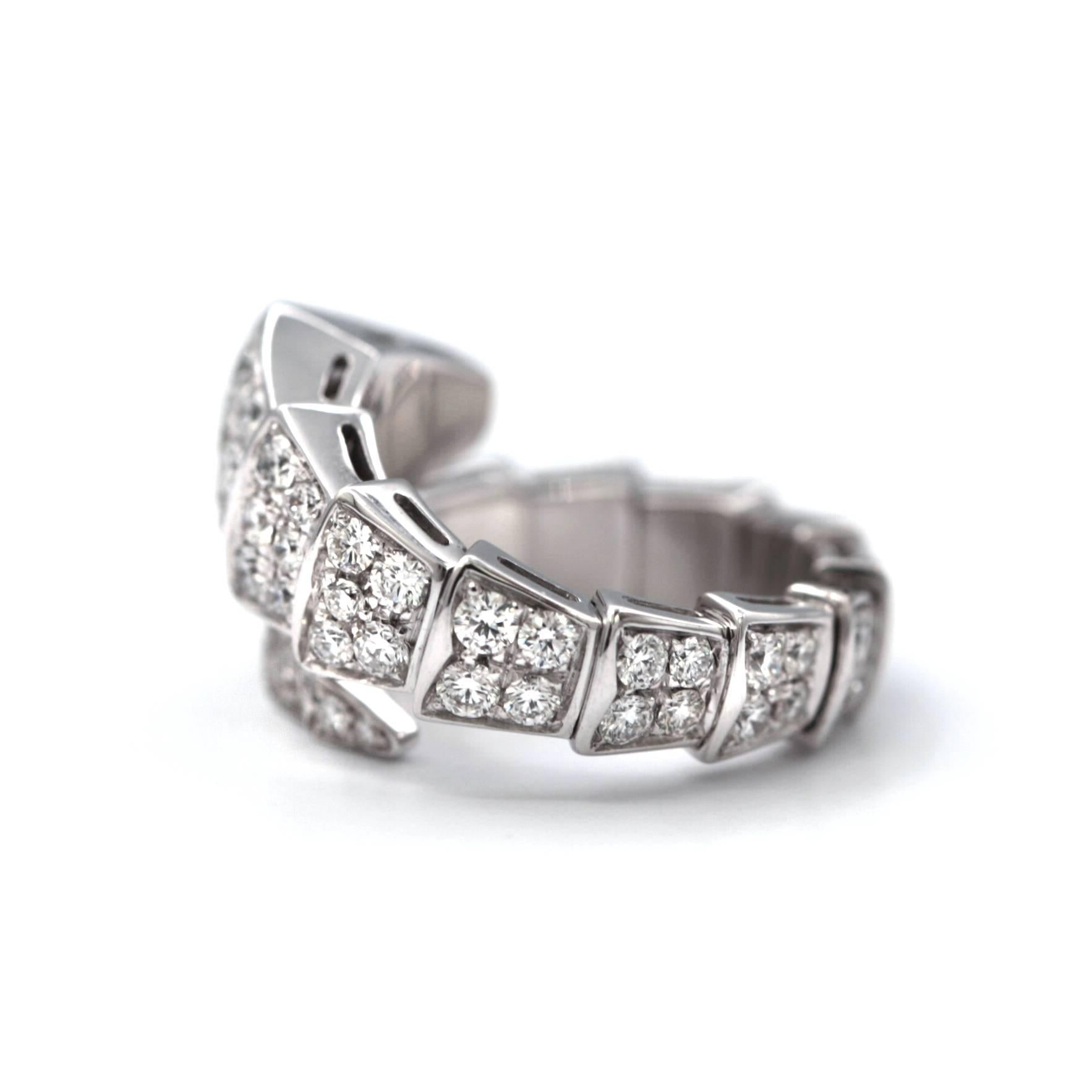 6422a4f5d Bvlgari Serpenti One-Coil 18 Karat with Pave Diamonds Ring | Upper ...