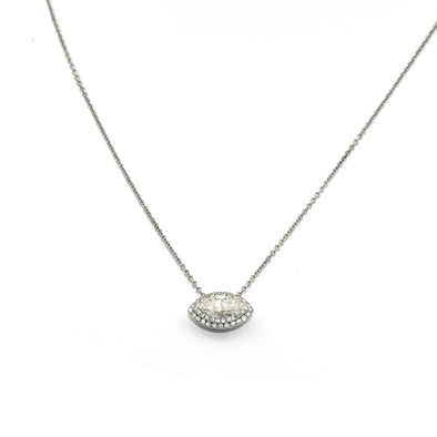 "1.49 Carat ""Evil Eye Protection"" Style Diamond Necklace"