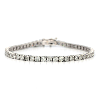 Tennis Bracelet 5.10 Carat Round Brilliant Cut Diamonds