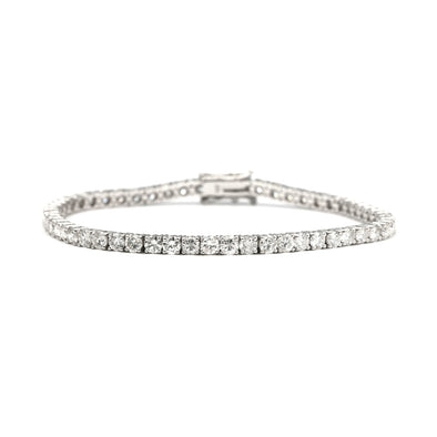 14 Karat Gold Diamond Tennis Bracelet with 11.24 Carat of Diamonds