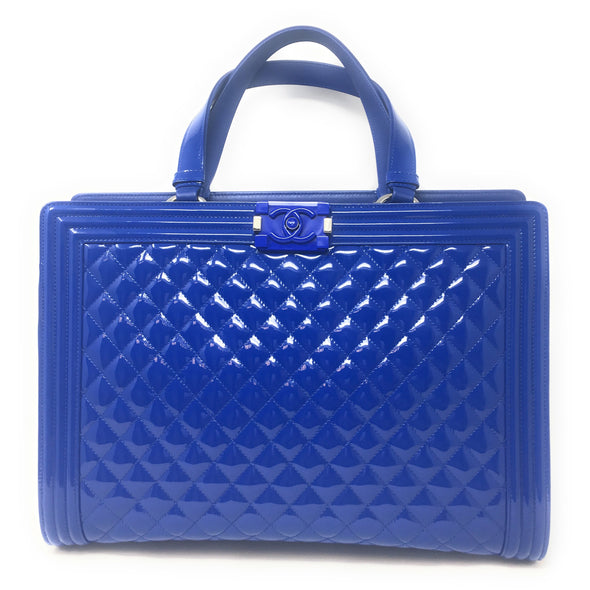 Chanel Large Shopper Boy Bag Blue - The Jewels of Beverly Hills
