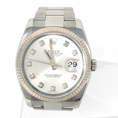 ROLEX DATEJUST DIAMOND & STEEL DIAL 116234 SDO - The Jewels of Beverly Hills