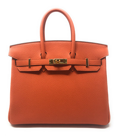 HERMES BIRKIN 25 FIRE ORANGE