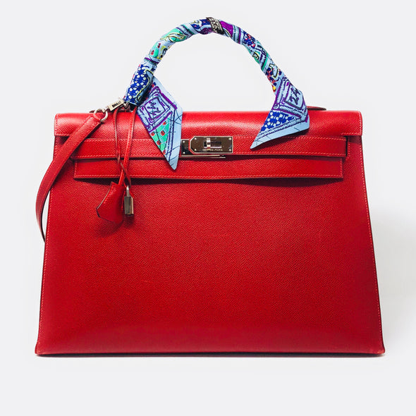 Hermes Kelly 40CM Red - The Jewels of Beverly Hills