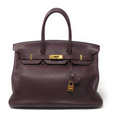 Hermes Birkin 35CM Maroon Togo - The Jewels of Beverly Hills