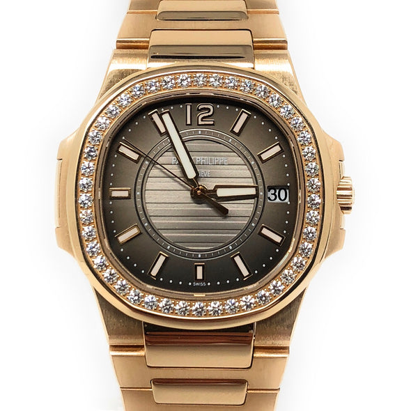 Patek Philippe Ladies Nautilus Rose Gold 7010/1R-010 - The Jewels of Beverly Hills