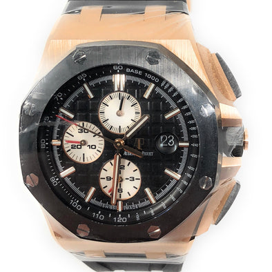Audemars Piguet ROYAL OAK OFFSHORE ROSE GOLD CERAMIC 26401RO.OO.A002CA.01 - The Jewels of Beverly Hills