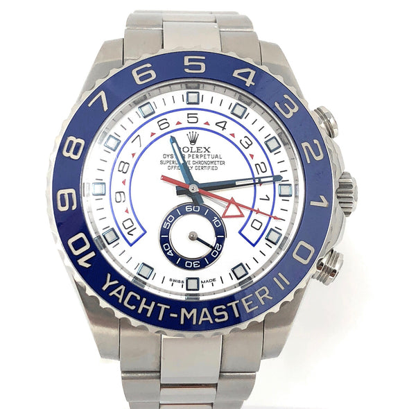 ROLEX YACHT MASTER II STAINLESS STEEL 116680 - The Jewels of Beverly Hills