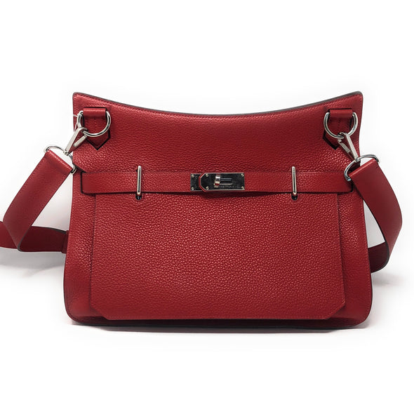 Hermes Jypsiere 34CM Red Togo - The Jewels of Beverly Hills