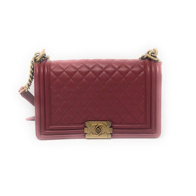 Chanel Old Medium Boy Bag Red - The Jewels of Beverly Hills