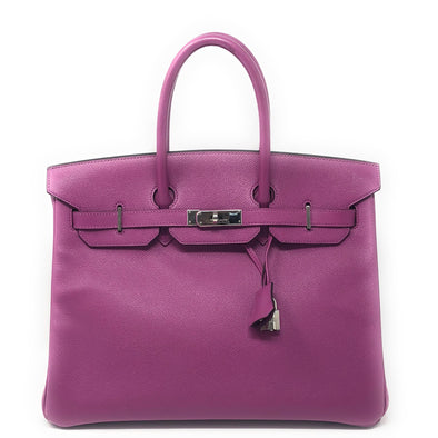 Hermes Birkin 35CM Purple Epsom - The Jewels of Beverly Hills